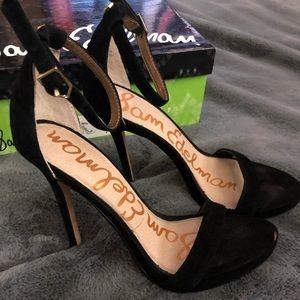 Sam Edelman black suede heels size 6M